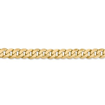 14k 7.25mm Flat Beveled Curb Chain