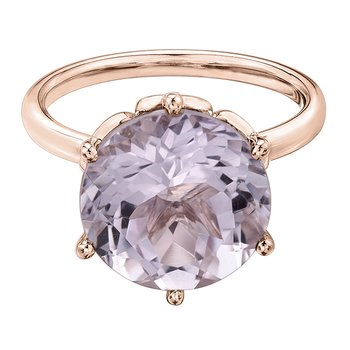 Lilac Amethyst Ladies Ring