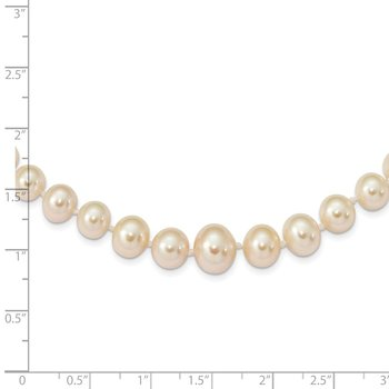 14k 4-8mm White Freshwater Cultured Pearl Graduated Necklace