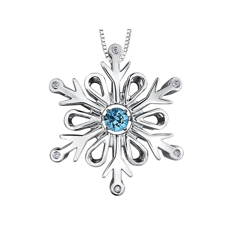 Diamond Days Pulse™ Blue Topaz Pendant
