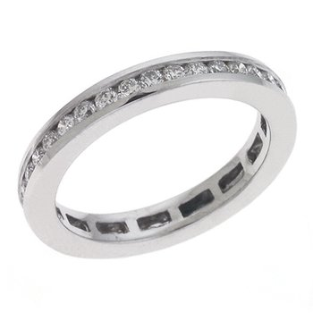 Eternity Band White Gold