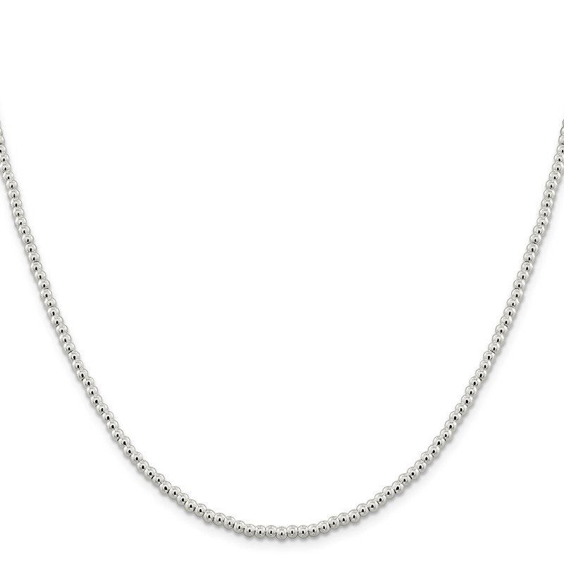 Quality Gold Sterling Silver 3mm Beads on Box Chain