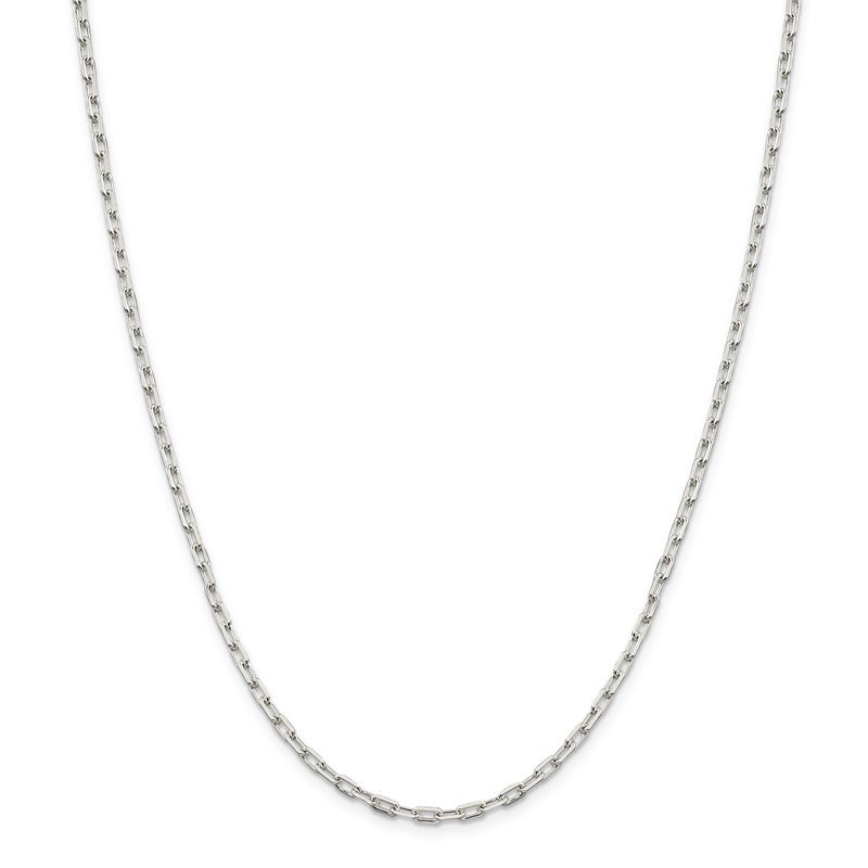 Quality Gold Sterling Silver 2.75mm Elongated Open Link Chain
