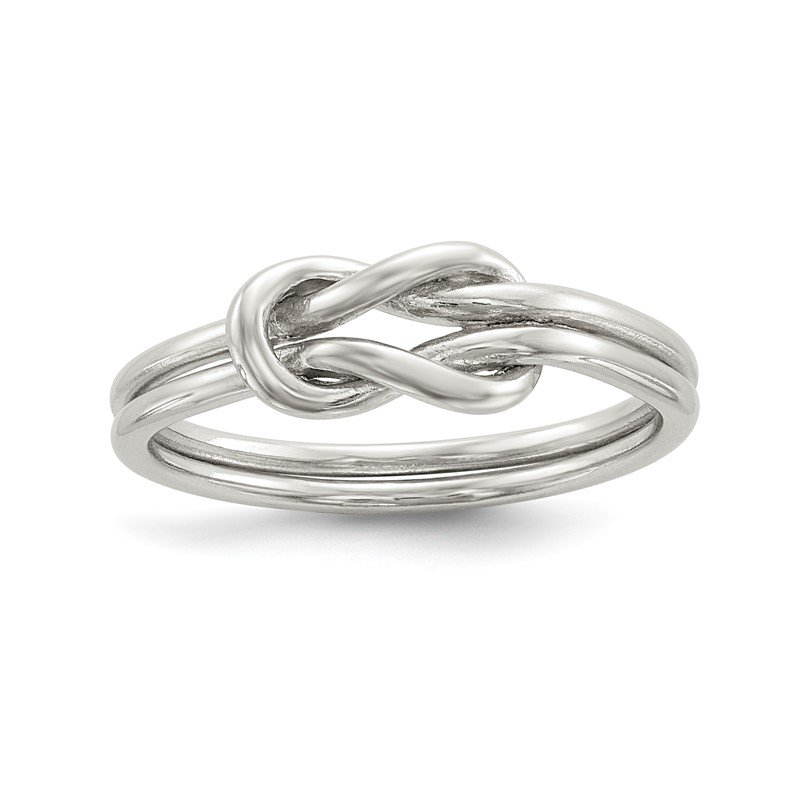 Quality Gold Sterling Silver Love Knot Ring