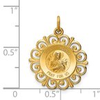 Quality Gold 14k Saint Theresa Medal Charm
