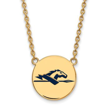 Gold-Plated Sterling Silver Longwood University NCAA Necklace