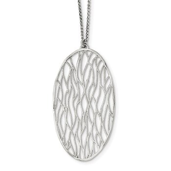 Sterling Silver Textured w/ 1.75in Ext. Necklace