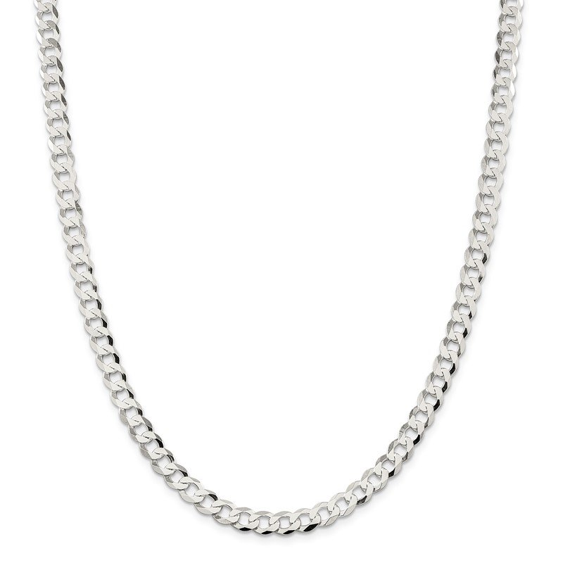 Quality Gold Sterling Silver 6.8mm Flat Curb Chain