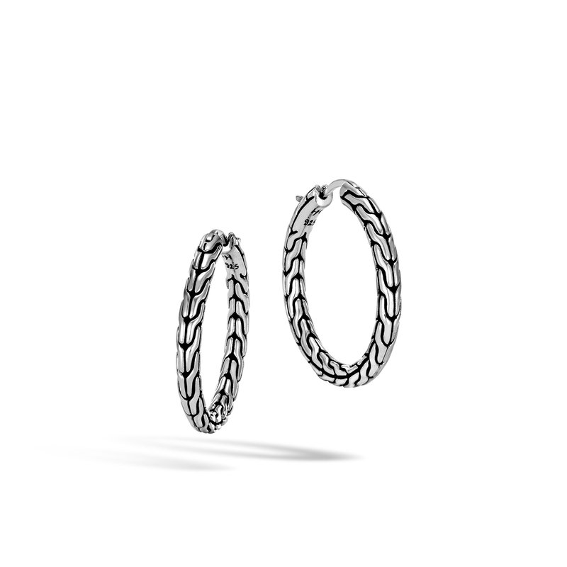 JOHN HARDY Classic Chain Medium Hoop Earring in Silver