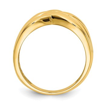 14k High Polished Woven Dome Ring
