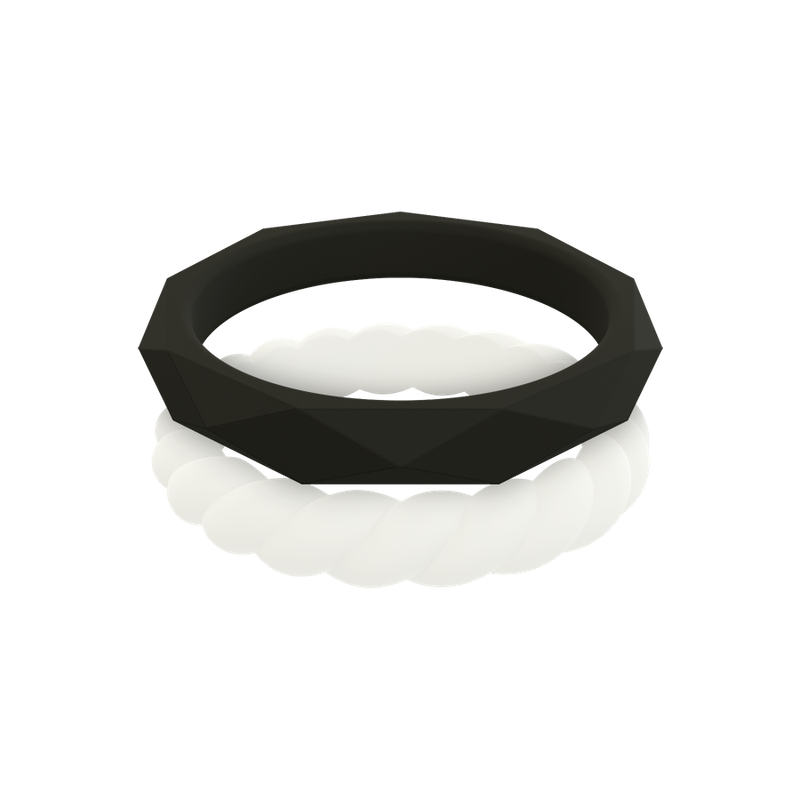 Qalo Women's Stackable Collection D Silicone Rings