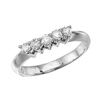 14k White Gold 0.33 Ct Diamond Wrap Band