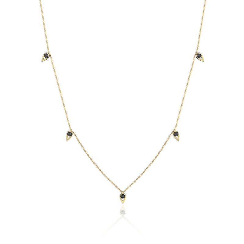 Tacori Fashion 5-Station Open Crescent Necklace with Black Onyx