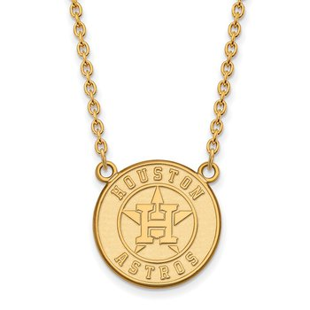 Gold-Plated Sterling Silver Houston Astros MLB Necklace