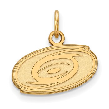 Gold-Plated Sterling Silver Carolina Hurricanes NHL Pendant