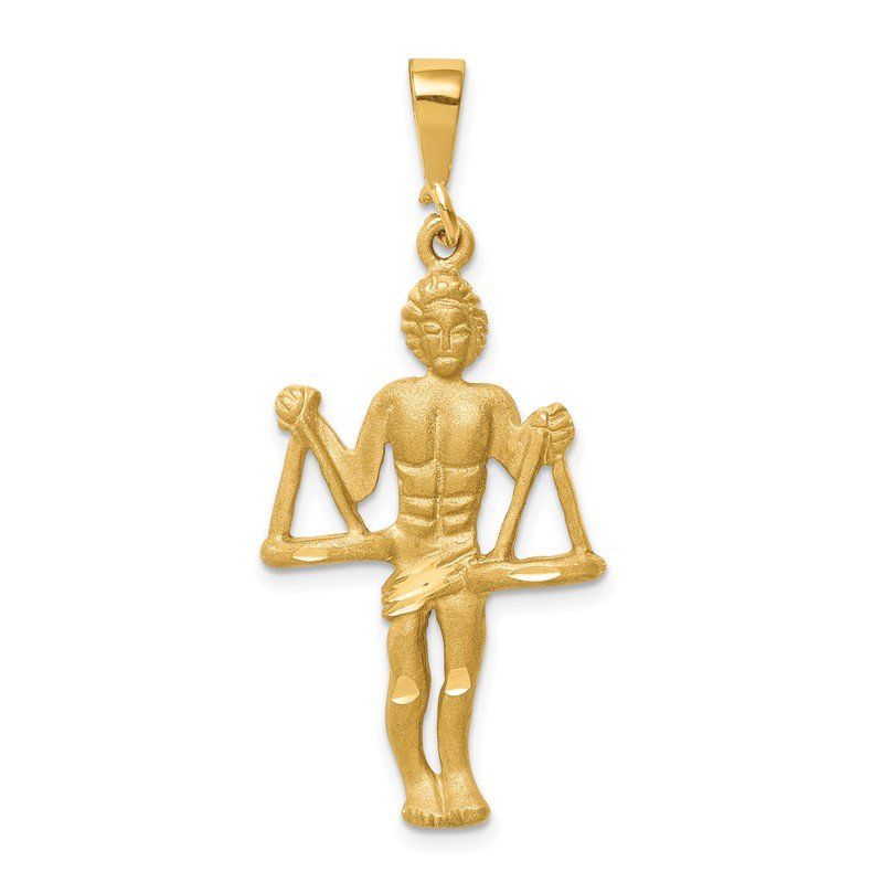 Lester Martin Online Collection 14k Satin Diamond-cut Libra Zodiac Charm