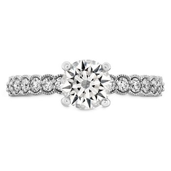0.35 ctw. Isabelle Milgrain Engagement Ring