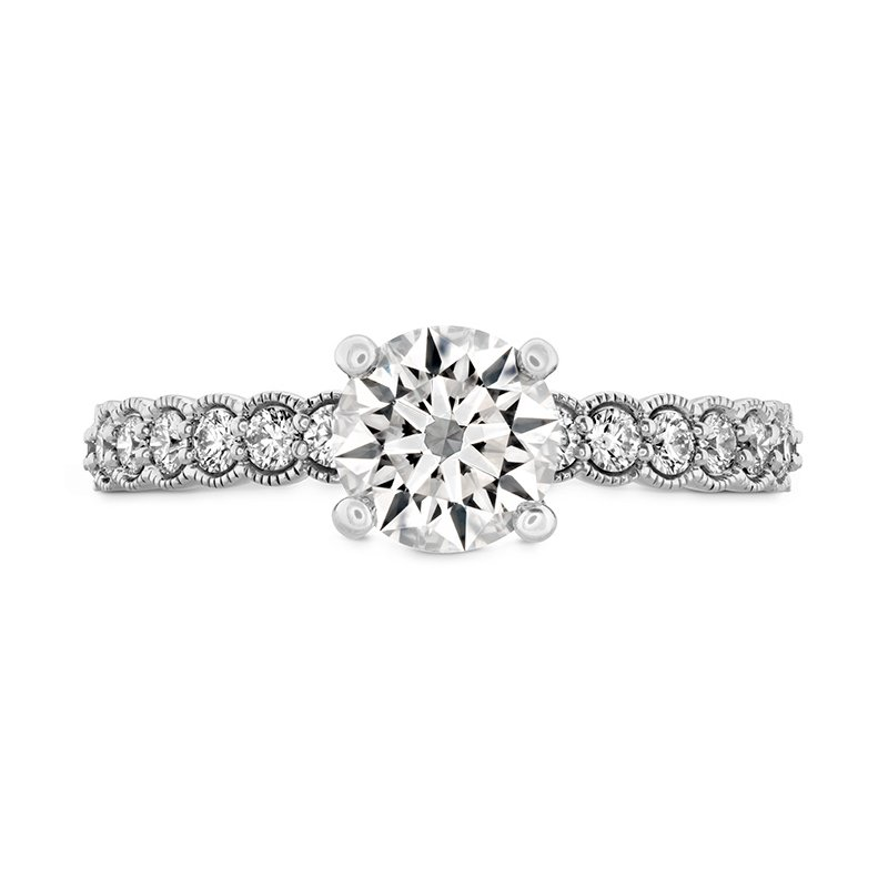 Hearts on Fire Isabelle Milgrain Engagement Ring