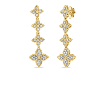 Drop Earrings With Diamond &Ndash; 18K Yellow Gold