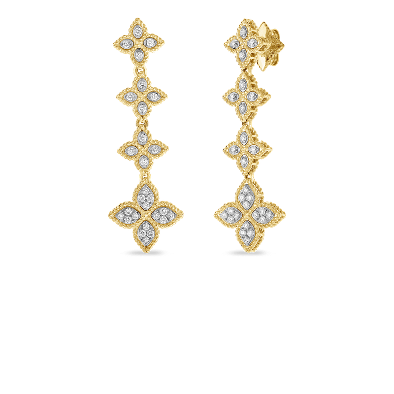 Roberto Coin 18KT GOLD DROP EARRINGS WITH DIAMONDS