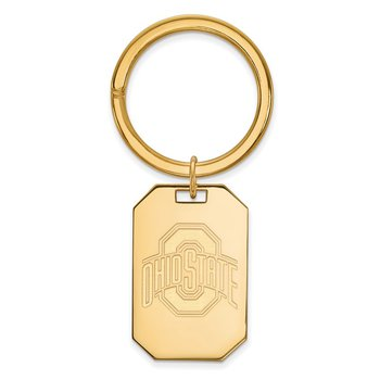 Gold-Plated Sterling Silver Ohio State University NCAA Key Chain