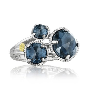 Budding Brilliance Ring featuring London Blue Topaz