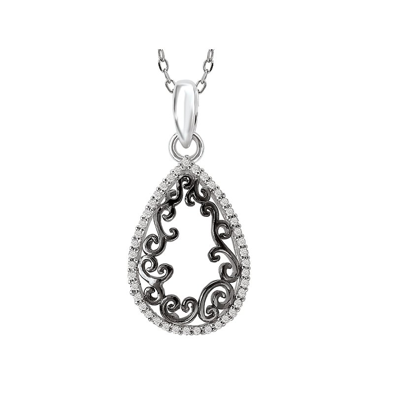 Tesoro Two Tone Diamond Pendant