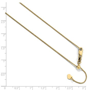 Leslie's 10K Yellow Gold .8 mm Adjustable Wheat Chain
