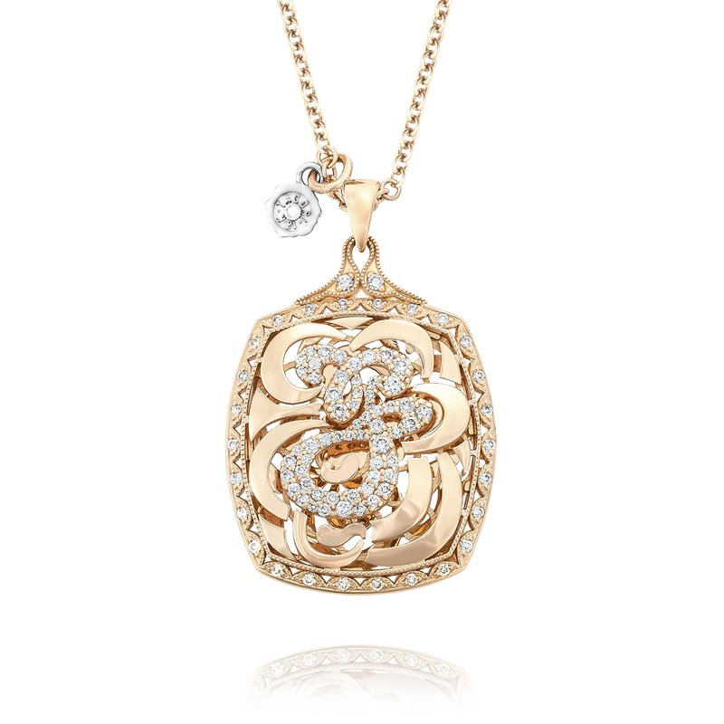 Tacori Bold Monogram Diamond Initial Pendant in Rose Gold | SN221_P