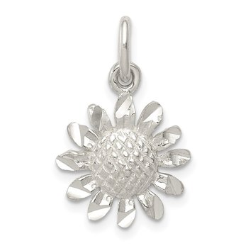 Sterling Silver Floral Charm