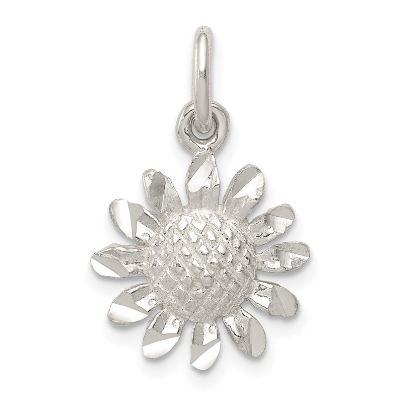 Quality Gold Sterling Silver Floral Charm