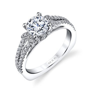 MARS 26246 Diamond Engagement Ring 0.38 Ctw.
