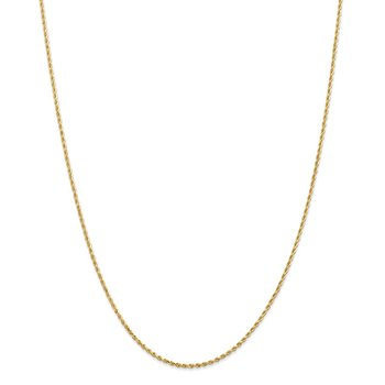 Leslie's 14K 1.3mm Diamond Cut Rope Chain
