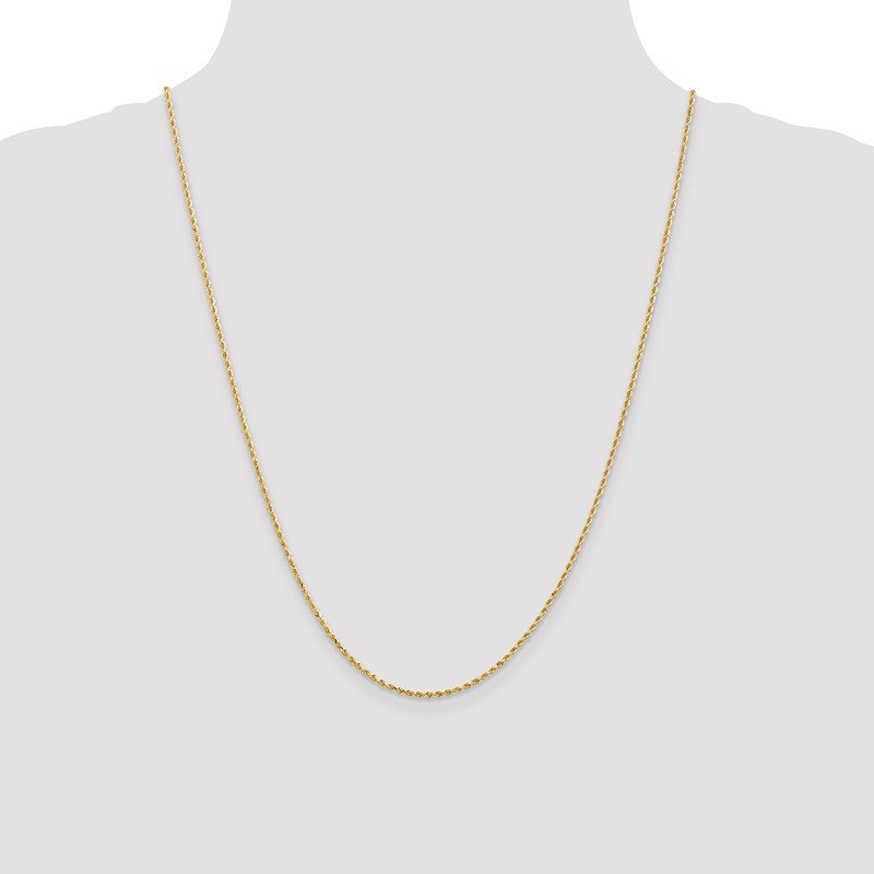 Leslie's Leslie's 14K 1.3mm Diamond-Cut Rope Chain