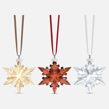 Online Annual Edition Ornament Set 2020, Crystal, Red, Gold Tone