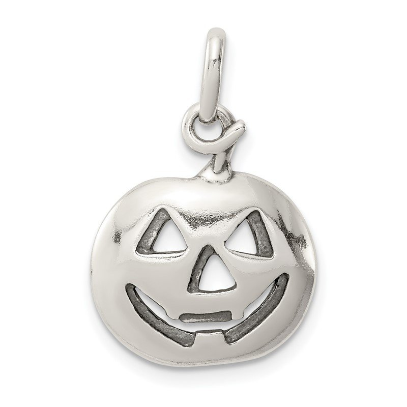 Quality Gold Sterling Silver Pumpkin Charm