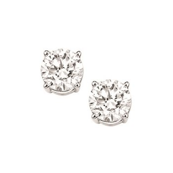 Diamond Stud Earrings in 18K White Gold (3/8 ct. tw.) I1/I2 - G/H