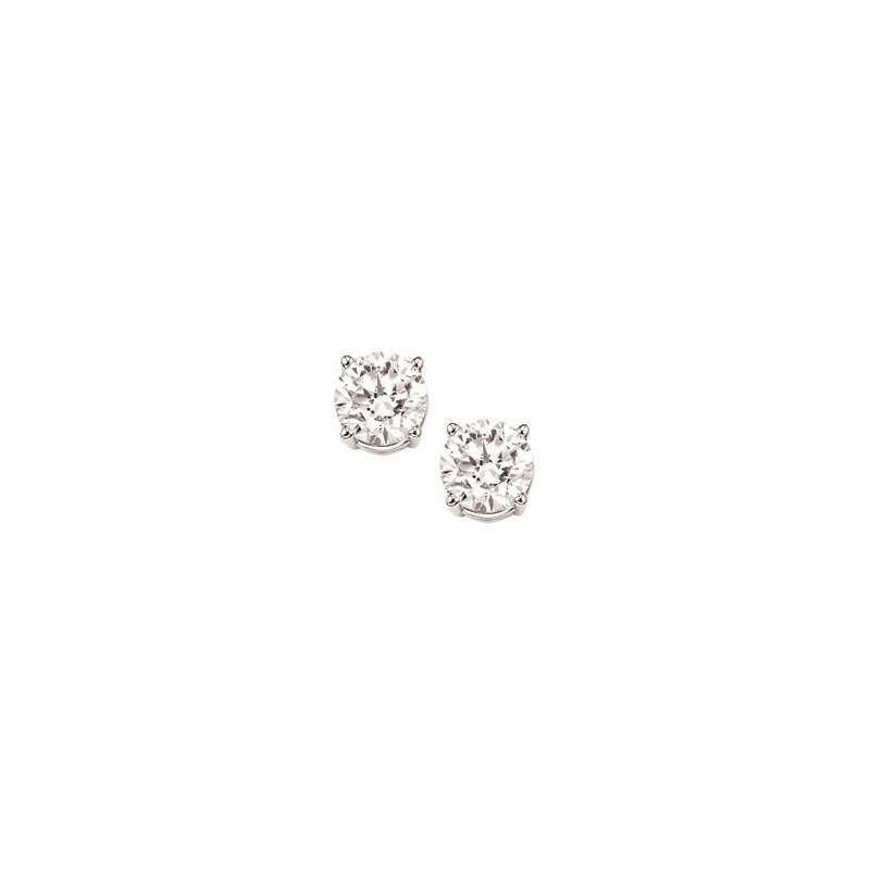 Gems One Diamond Stud Earrings in 18K White Gold (3/8 ct. tw.) I1/I2 - G/H