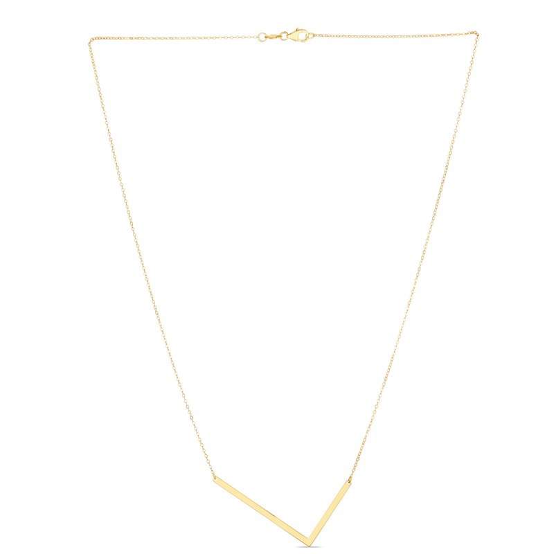 Royal Chain 14K Gold Large Initial L Necklace