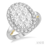 Crocker's Collection oval shape lovebright diamond ring