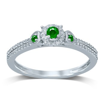 14K 0.12Ct Diamond   Emerald