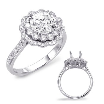 Palladium Halo Engagement Ring