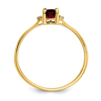 14k Diamond & Garnet Birthstone Ring