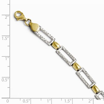 Leslie's 10K Two-tone Diamond-cut Bracelet