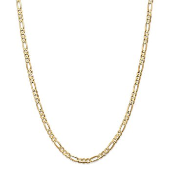 14k 4.5mm Concave Open Figaro Chain