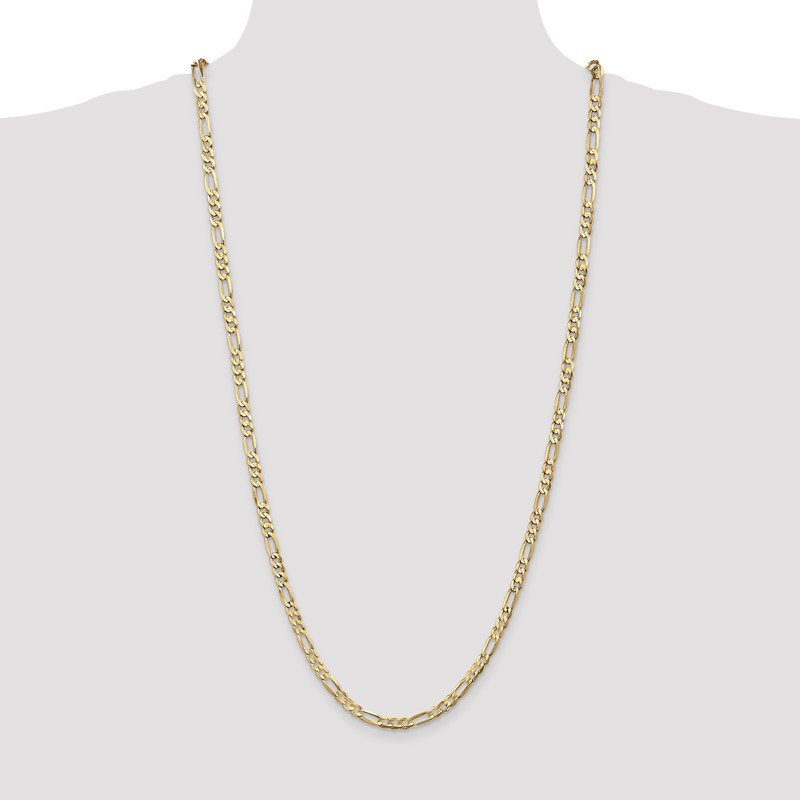 Quality Gold 14k 4.5mm Concave Open Figaro Chain