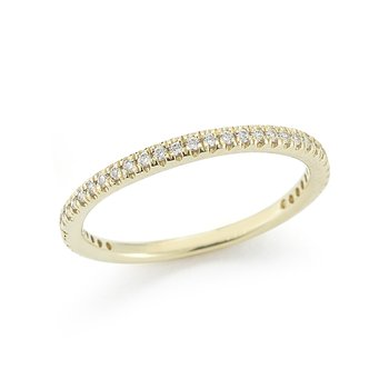 14K-Y STACKABLE GALLERY RING, 0.25CT