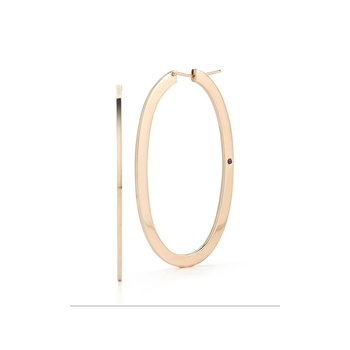 Large Oval Hoop Earrings &Ndash; 18K Rose Gold