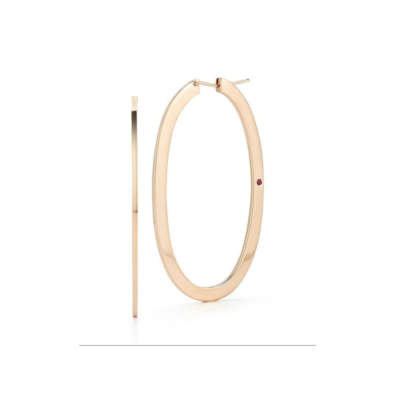 Roberto Coin Large Oval Hoop Earrings &Ndash; 18K Rose Gold