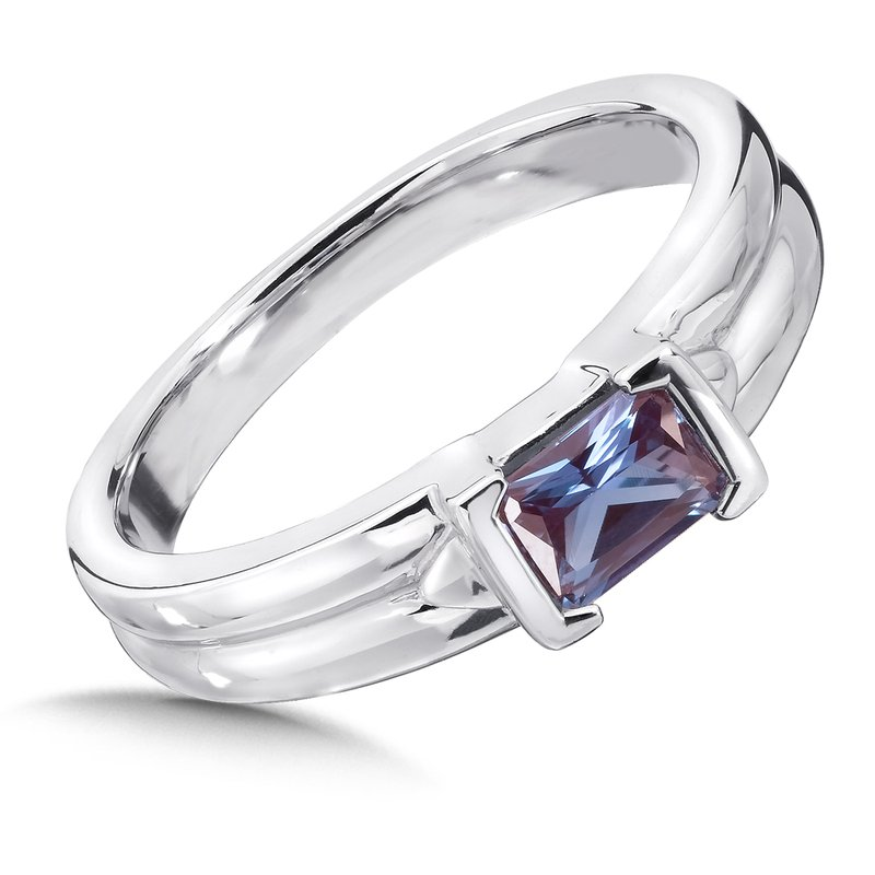 Colore Sg Sterling Silver and Created Alexandrite Ring